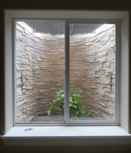 Stack Stone Tan Custom Basement Window Well Liner