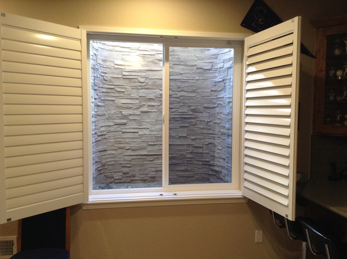 Finished Products Stack Stone Tan Custom Bat Window Well Liner
